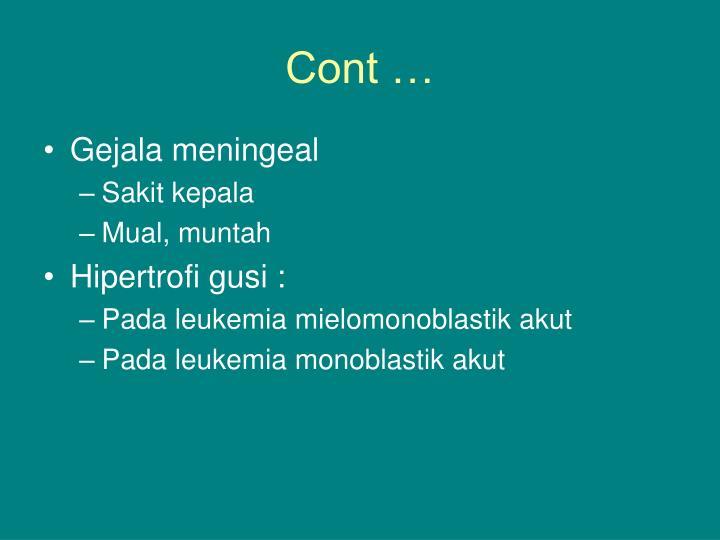 Cont …