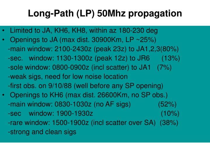 Long-Path (LP) 50Mhz propagation