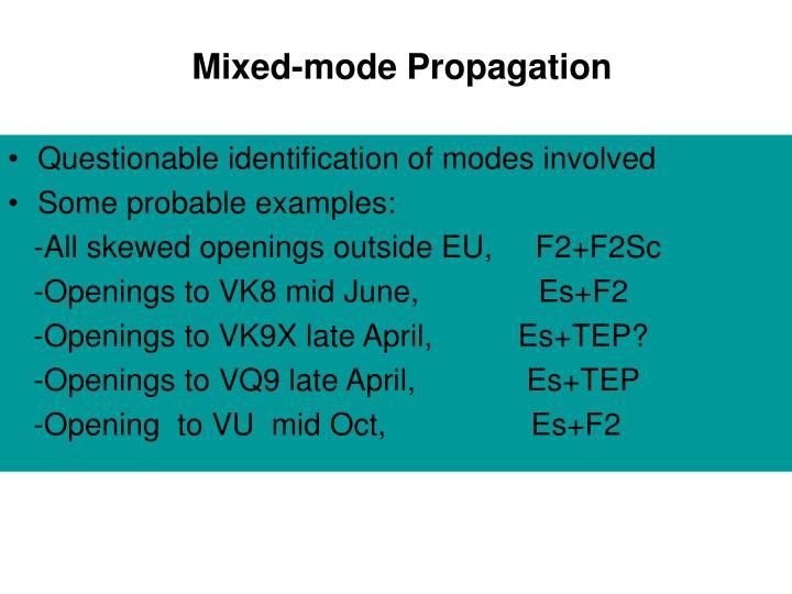Mixed-mode Propagation