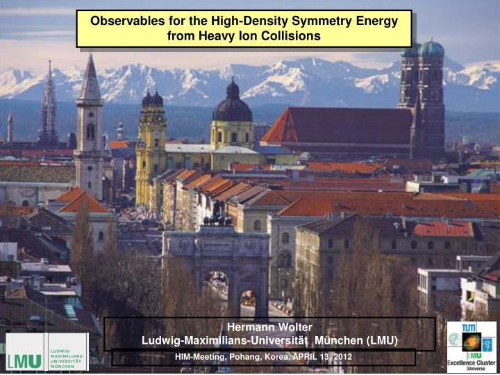 Observables for the High-Density Symmetry Energy