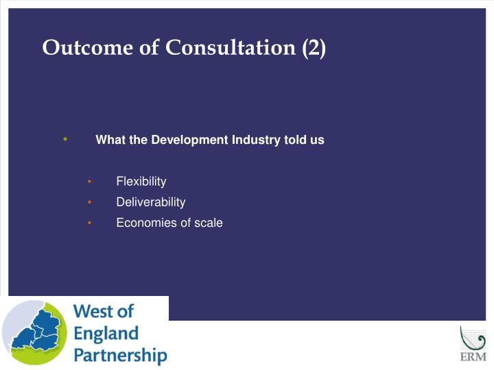 Outcome of Consultation (2)
