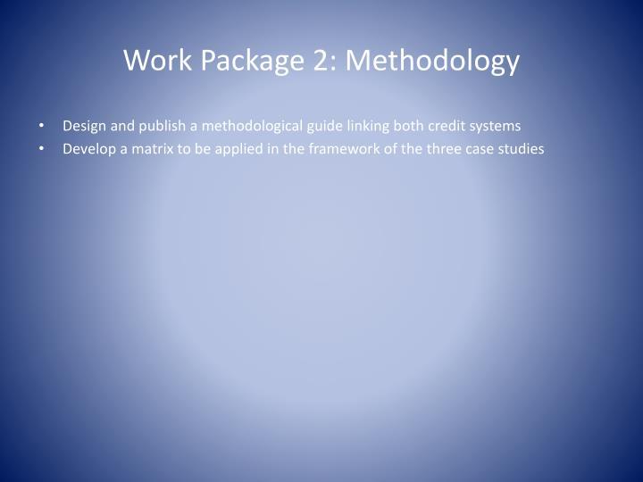 Work Package 2: Methodology