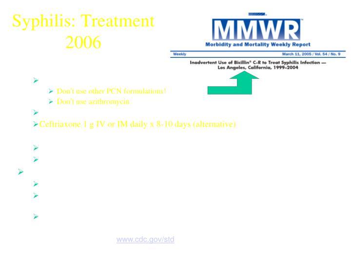 Syphilis: Treatment