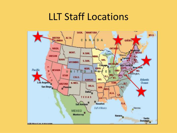 LLT Staff Locations