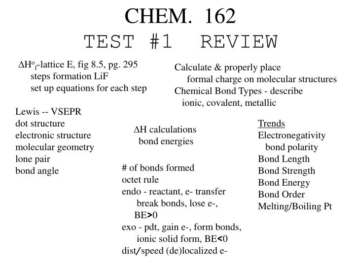 chem 162 test 1 review