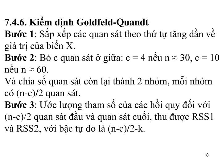 7.4.6. Kiểm định Goldfeld-Quandt