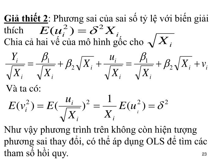 Giả thiết 2