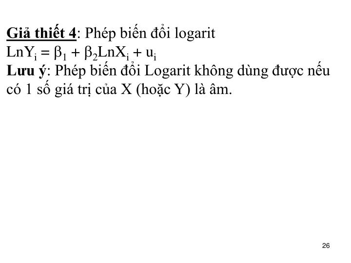 Giả thiết 4