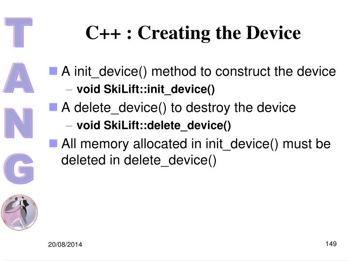 C++ : Creating the Device