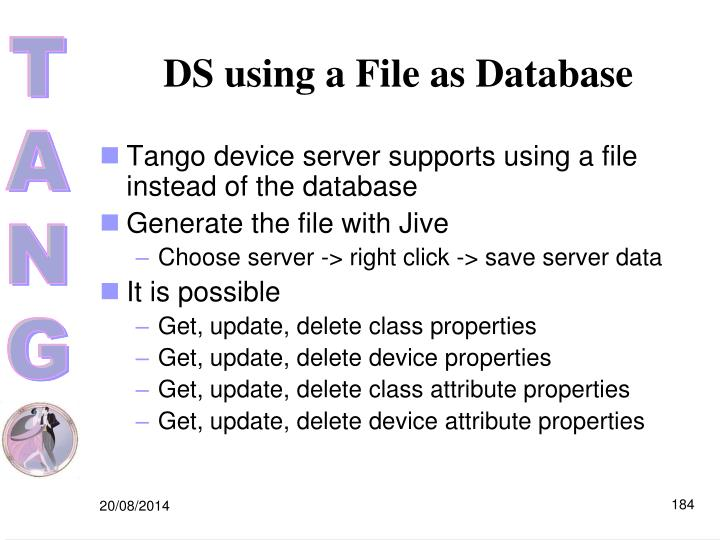 DS using a File as Database