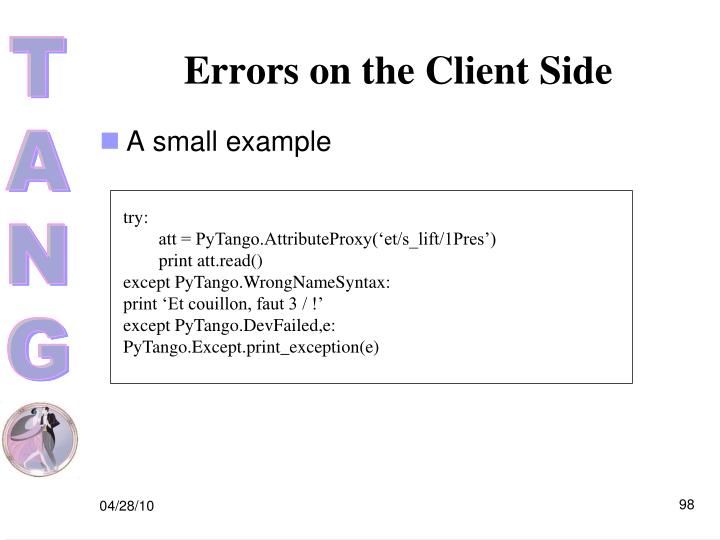 Errors on the Client Side