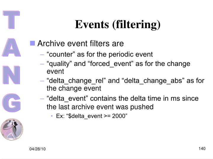 Events (filtering)