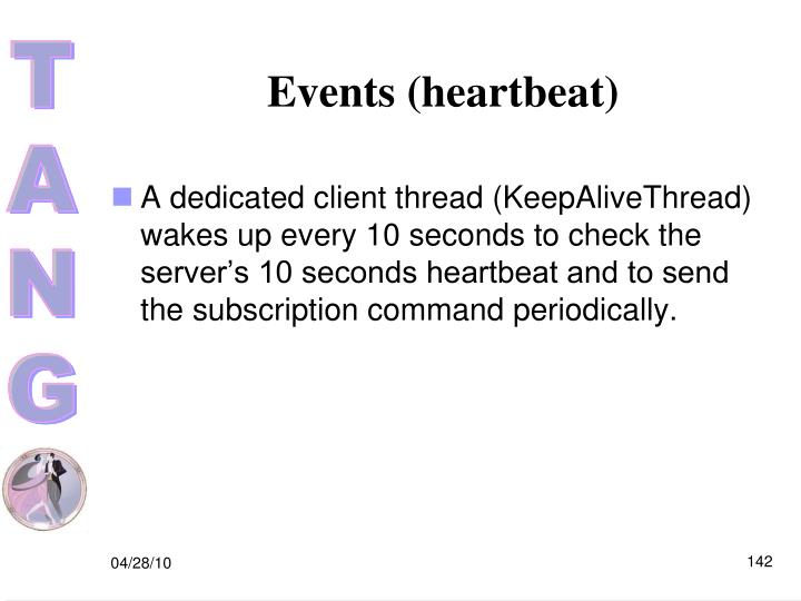 Events (heartbeat)