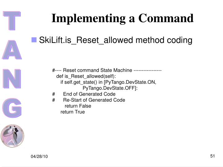 Implementing a Command