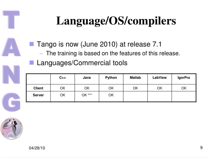 Language/OS/compilers