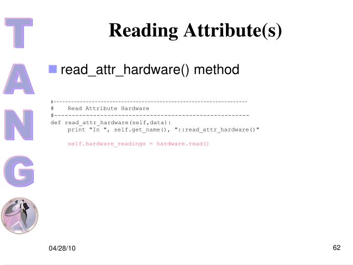 Reading Attribute(s)