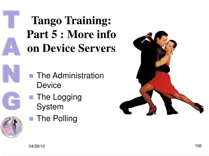 Tango Training: Part 5 : More info on Device Servers