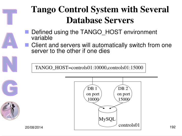 Tango Control System with Several Database Servers