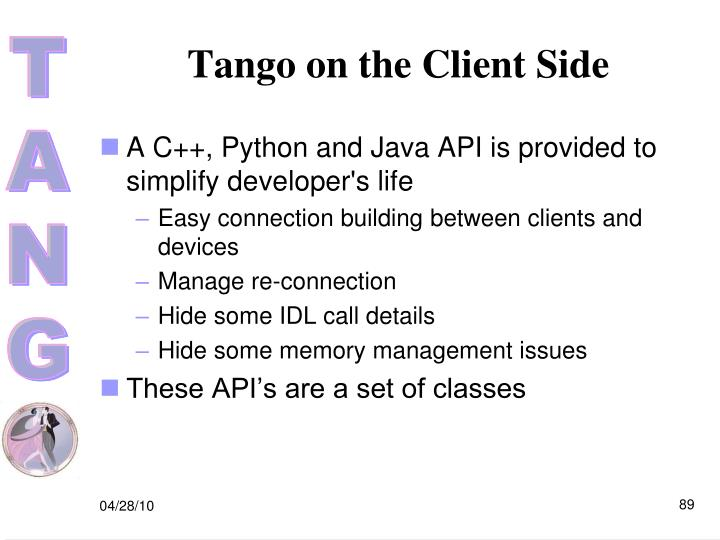Tango on the Client Side