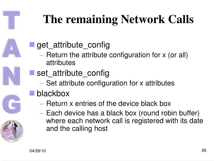 The remaining Network Calls