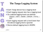 the tango logging system1