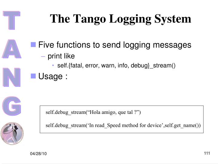 The Tango Logging System