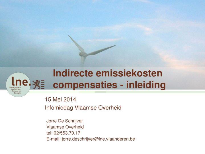 indirecte emissiekosten compensaties inleiding
