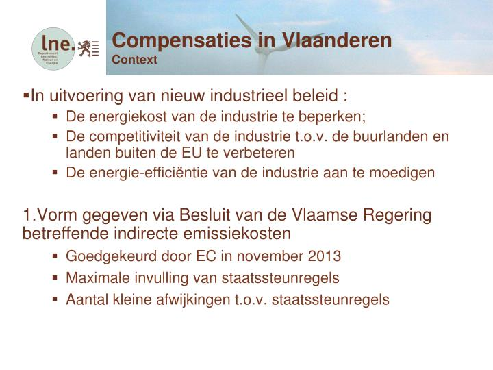 Compensaties in Vlaanderen