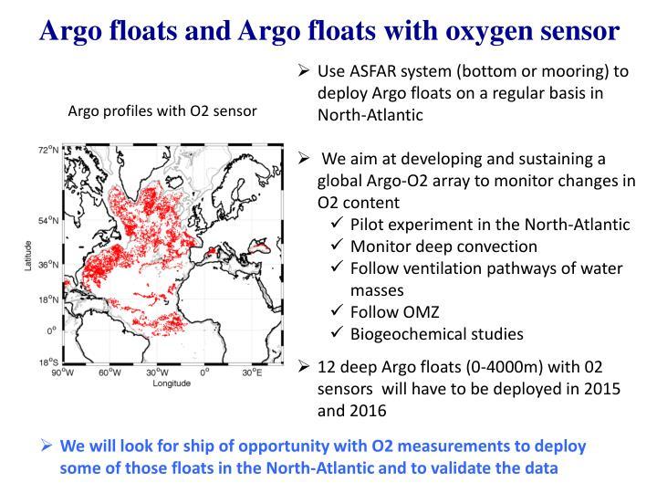 Argo floats and Argo floats with oxygen sensor
