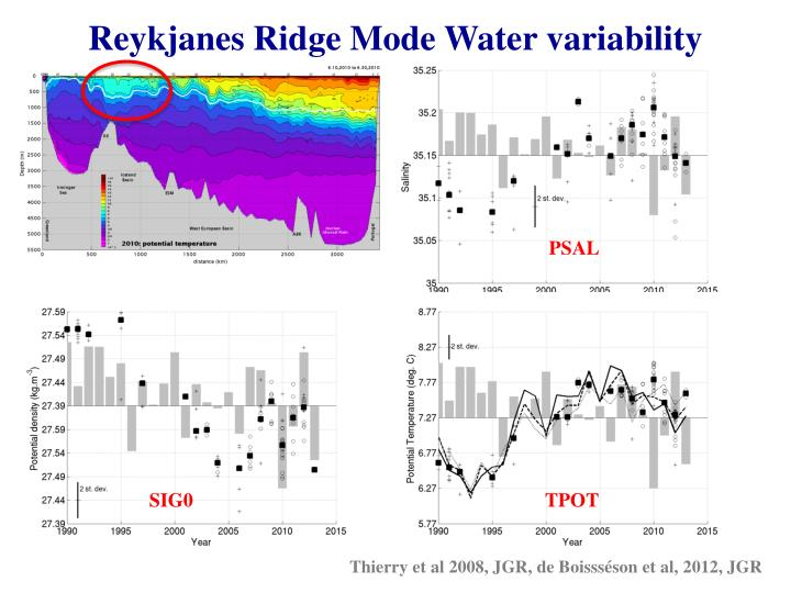 Reykjanes Ridge Mode Water variability