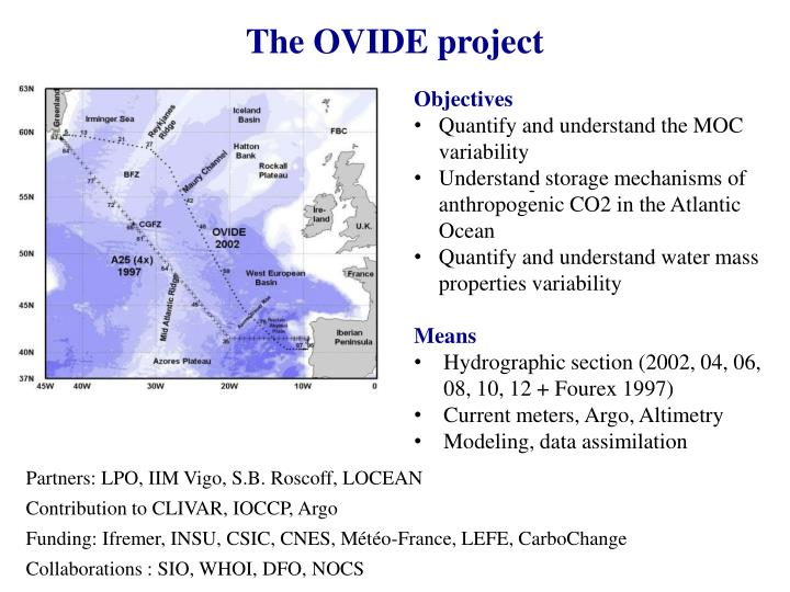 The OVIDE project