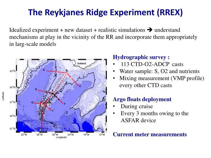 The Reykjanes Ridge Experiment (RREX)