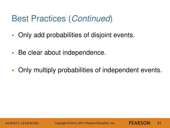 Best Practices (