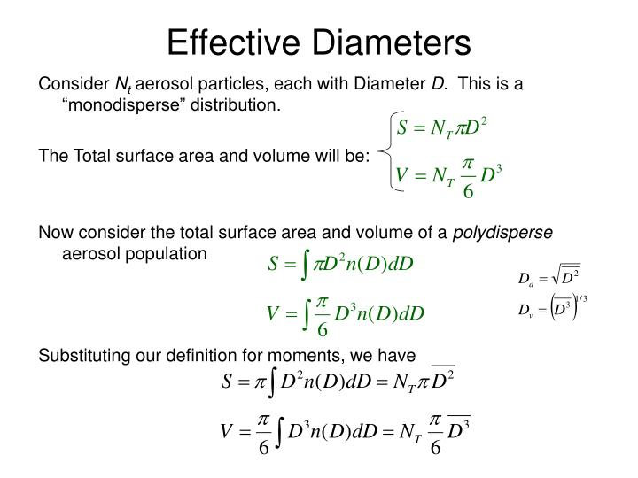 Effective Diameters