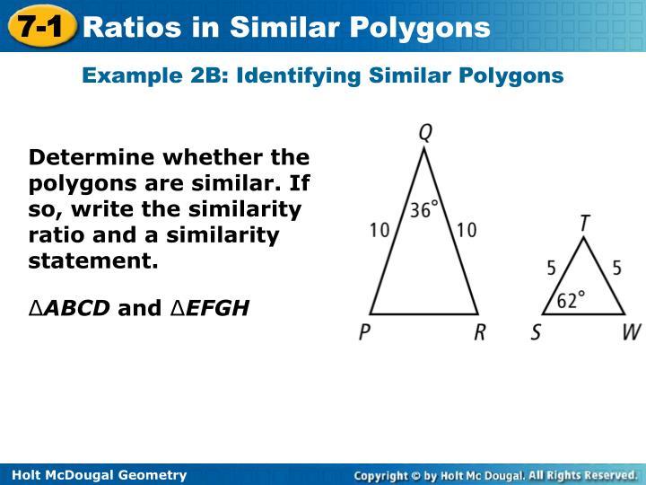 Example 2B: Identifying Similar Polygons