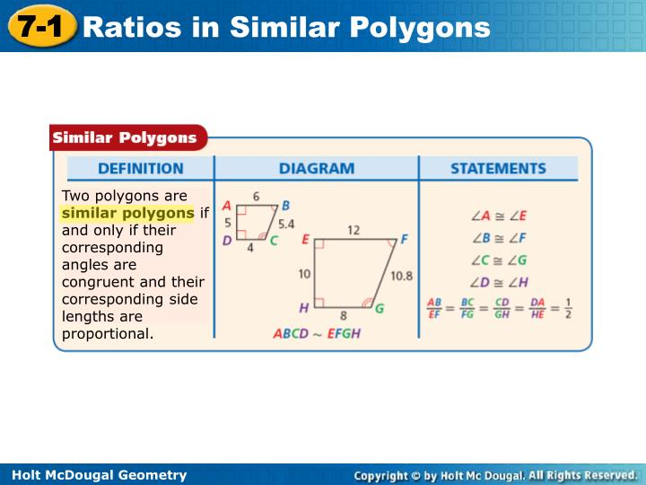 Two polygons are