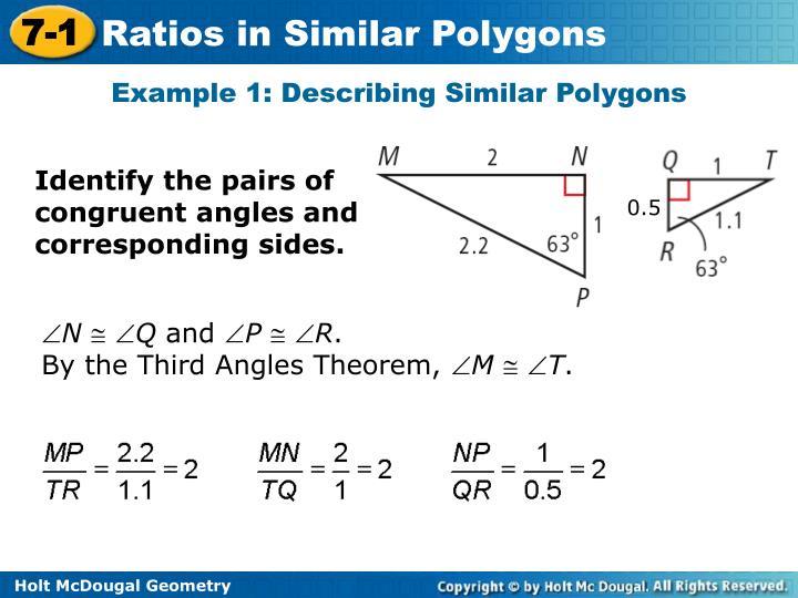 Example 1: Describing Similar Polygons