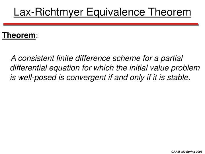 Lax-Richtmyer Equivalence Theorem
