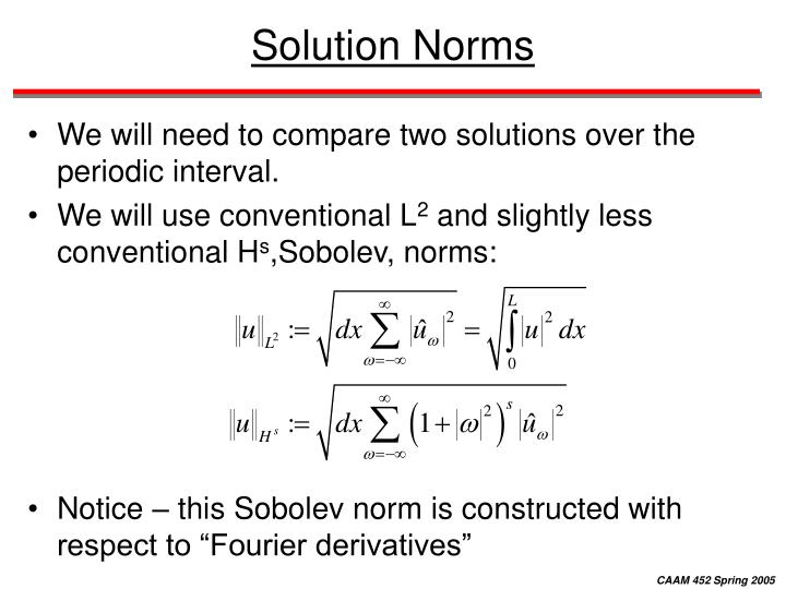 Solution Norms