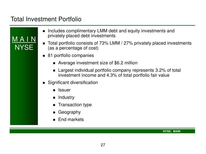 Total Investment Portfolio