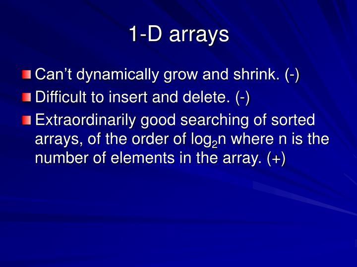 1-D arrays