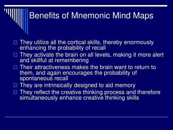 Benefits of Mnemonic Mind Maps