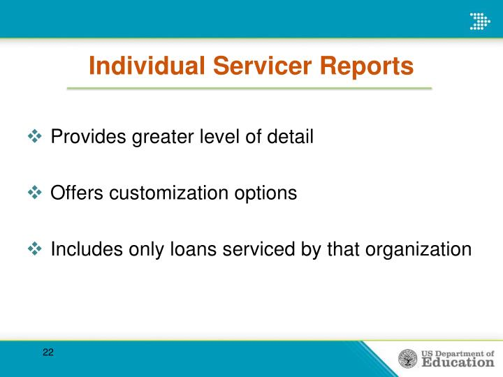 Individual Servicer Reports