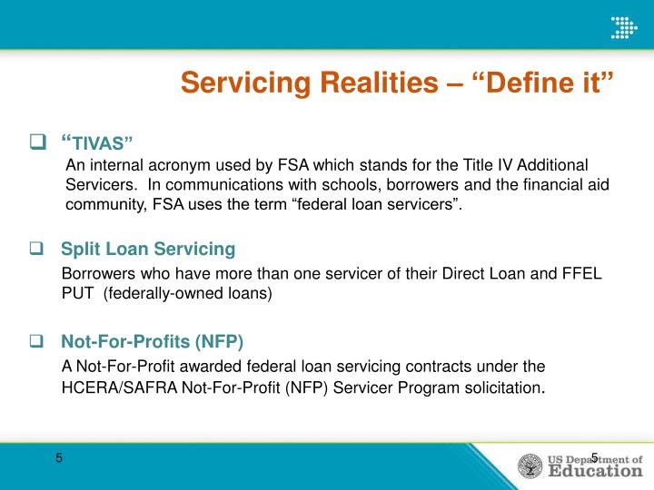 "Servicing Realities – ""Define it"""