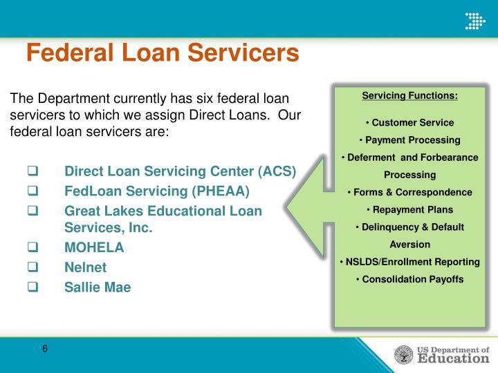 Federal Loan Servicers