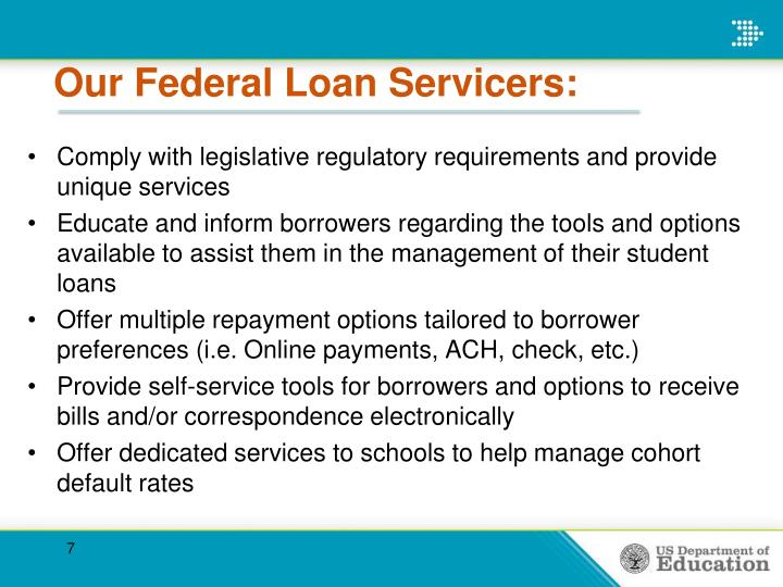 Our Federal Loan Servicers: