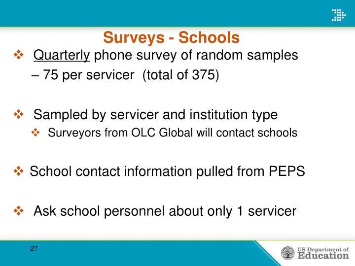 Surveys - Schools