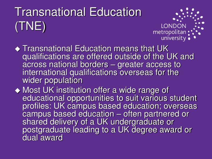 Transnational Education (TNE)