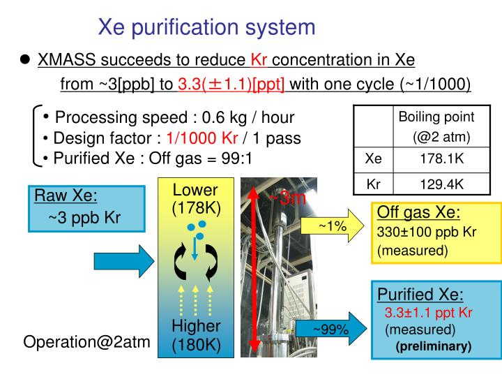 Xe purification system