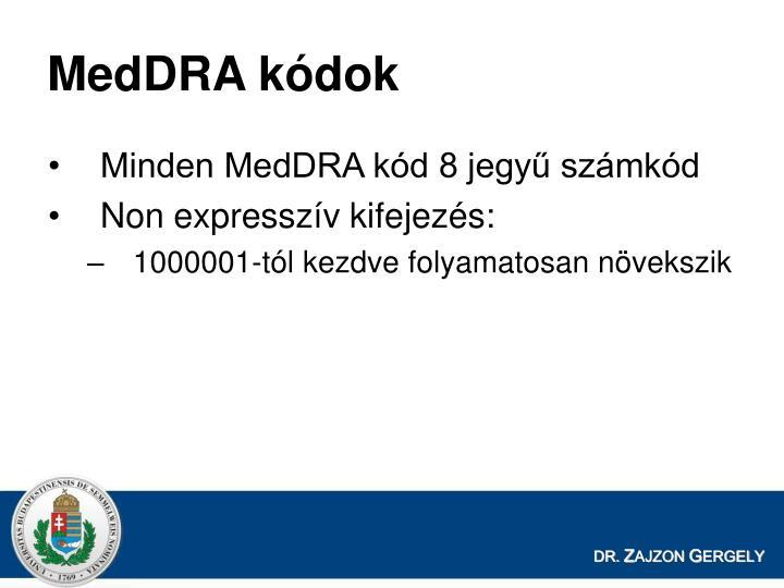 MedDRA kódok